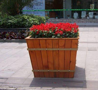 方形木花箱